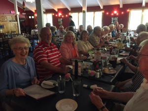 30 members and friends enjoying dinner and fellowship at the Lobster Trap!