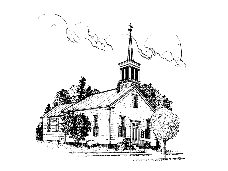 church-line-drawing